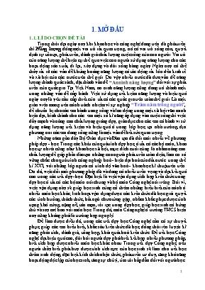 SKKN Hiệu quả thiết thực từ việc vận dụng phương pháp tích hợp trong dạy - Học Tiết 42: Bài 48 - Sử dụng hợp lí điện năng (Công nghệ 8)