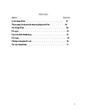 SKKN Tích hợp giáo dục bảo vệ môi trường trong dạy học bài 15: Công dân với một số vấn đề cấp thiết của nhân loại, giáo dục công dân lớp 10 – Trường trung học phổ thông Lê Lợi