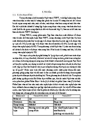 SKKN Một số biện pháp rèn luyện kĩ năng viết đoạn văn nghị luận xã hội (khoảng 200 chữ) cho học sinh lớp 12A2 Trường THPT Quan Sơn 2 trong kì thi THPT Quốc gia