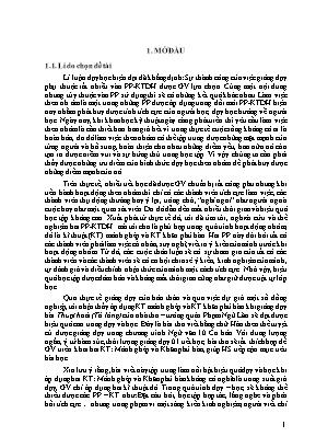 SKKN Một số văn bản thơ luật Đường thuộc chương trình Cơ bản mà trung tâm thể nghiệm là bài thơ Thuật hoài (Tỏ lòng) của Phạm Ngũ Lão