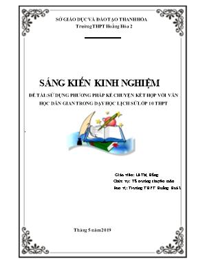 SKKN Sử dụng phương pháp kể chuyện kết hợp với văn học dân gian trong dạy học Lịch sử lớp 10 THPT