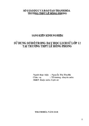 SKKN Sử dụng sơ đồ trong dạy học Lịch sử lớp 12 tại trường THPT Lê Hồng Phong