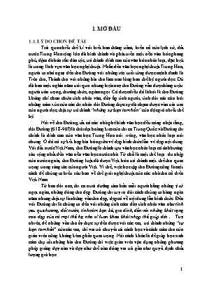 """SKKN Vận dụng thi pháp thơ Đường hướng dẫn học sinh lớp 7 đọc – hiểu bài: """"Hồi hương ngẫu thư"""" của Hạ Tri Chương"""