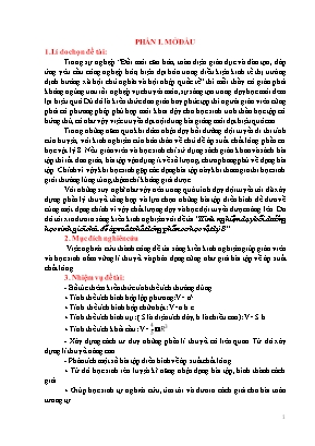 Kinh nghiệm dạy bồi dưỡng học sinh giỏi chủ đề áp suất chất lỏng phần cơ học Vật lý 8