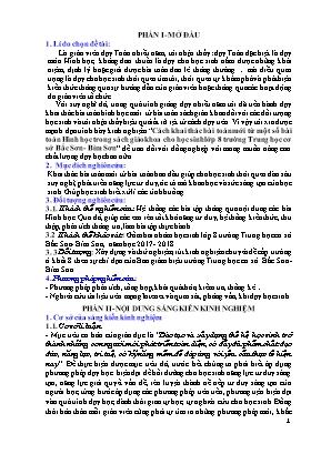 SKKN Cách khai thác bài toán mới từ một số bài toán Hình học trong sách giáo khoa cho học sinh lớp 8 trường Trung học cơ sở Bắc Sơn - Bỉm Sơn