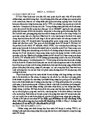 SKKN Hiệu quả thiết thực từ việc vận dụng kiến thức liên môn trong dạy học môn Mĩ thuật lớp 8 Tiết 2 - Bài 2: Sơ lược mĩ thuật thời Lê (từ thế kỉ XV đến đầu thế kỉ XVIII)