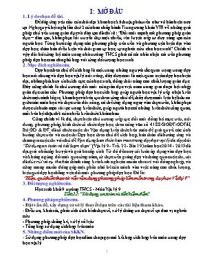 SKKN Hiệu quả thiết thực từ việc vận dụng phương pháp liên môn trong dạy học Vật lý 9