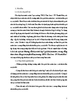 SKKN Hướng dẫn học sinh lớp 7 giải bài toán tìm x trong đẳng thức chứa dấu giá trị tuyệt đối tại trường THCS Tân Sơn - TP Thanh Hóa
