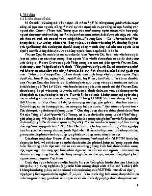 SKKN Một cách dạy các đoạn trích Truyện Kiều trong chương trình Ngữ văn 10 THPT