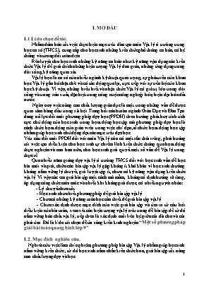 SKKN Một số phương pháp giải bài toán Quang hình lớp 9