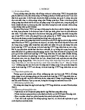 SKKN Rèn luyện kĩ năng biện luận lập công thức phân tử hợp chất hữu cơ cho đội tuyển học sinh Giỏi môn Hóa học 9 - Huyện Triệu Sơn