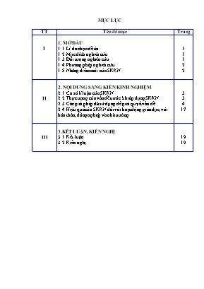 SKKN Tích hợp giáo dục kĩ năng sống cho học sinh lớp 7 trong tiết ôn tập Đại số Chương III -Thống kê