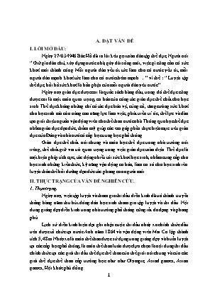 SKKN Lựa chọn một số bài tập nhằm khắc phục những sai lầm thường mắc khi học kỹ thuật nhảy xa kiểu ưỡn thân cho học sinh lớp 11 trường THPT Triệu Sơn 2 huyện Triệu Sơn - Tỉnh Thanh Hoá