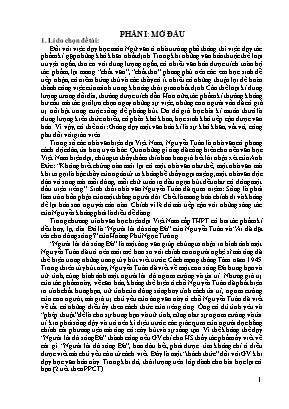 """Một số kinh nghiệm khi giảng dạy bài """"người lái đò sông đà"""" của Nguyễn Tuân"""
