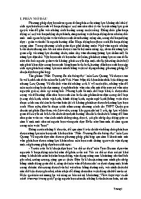 SKKN Áp dụng các phương pháp, kĩ thuật dạy học tích cực trong giờ đọc hiểu Hồn Trương Ba da hàng thịt của Lưu Quang Vũ nhằm phát huy năng lực học sinh