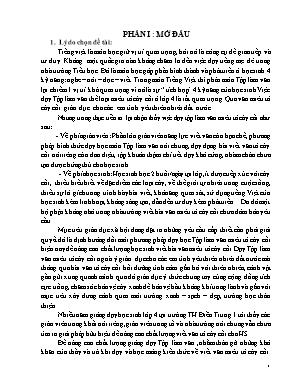 SKKN Biện pháp rèn kỹ năng viết bài văn miêu tả cây cối cho học sinh lớp 4A - Trường TH Điền Trung I