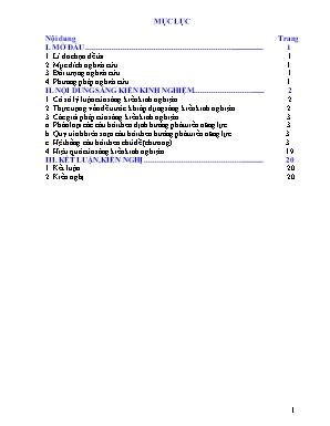 SKKN Biên soạn hệ thống câu hỏi theo định hướng phát triển năng lực học sinh vào dạy học phần Sinh học tế bào - Sinh học 10