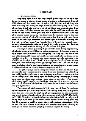 SKKN Cái tôi trữ tình trong thơ văn Nguyễn Công Trứ
