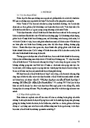 SKKN Chỉ đạo dạy học các yếu tố hình học lớp 5 trường TH Tiến Lộc - Hậu Lộc -Thanh Hóa