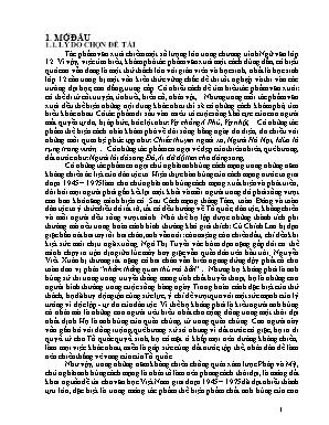 """SKKN Chủ nghĩa anh hùng cách mạng trong tác phẩm """"Rừng xà nu"""" của Nguyễn Trung Thành và tác phẩm """"Những đứa con trong gia đình"""" của Nguyễn Thi"""
