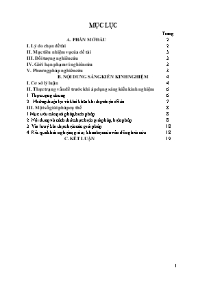 """SKKN Dạy học theo định hướng phát triển năng lực học sinh qua một số đoạn trích """"truyện Kiều"""" trong chương trình Ngữ văn khối 10"""
