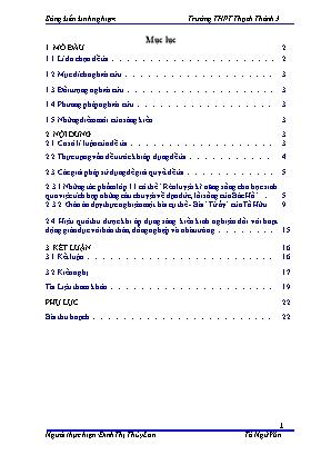 SKKN Giáo dục kĩ năng sống cho học sinh qua việc tích hợp những câu chuyện về đạo đức, lối sống của Bác Hồ trong những giờ đọc - Hiểu tác phẩm văn học lớp 11