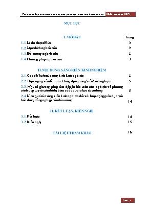 SKKN Hướng dẫn học sinh một số phương pháp tìm nhanh đáp án bài toán trắc nghiệm phần tiếp tuyến của đồ thị hàm số