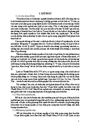 SKKN Khai thác và sử dụng tư liệu dân gian trong dạy học bài Cuộc khởi nghĩa Lam Sơn trên đất Thanh Hóa (1418 - 1423)
