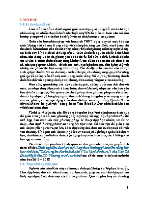 """SKKN Kinh nghiệm dạy học tích hợp theo hướng phát triển năng lực học sinh bài """"Bài ca ngắn đi trên bãi cát"""" (""""Sa hành đoản ca"""") của Cao Bá Quát (Ngữ văn 11 - Chương trình cơ bản)"""
