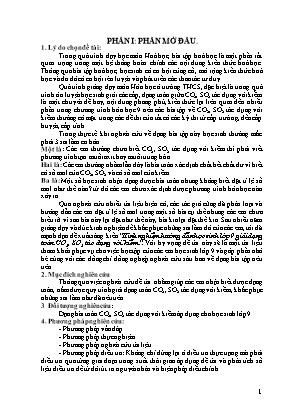 SKKN Kinh nghiệm hướng dẫn học sinh lớp 9 giải dạng toán CO2, SO2 tác dụng với kiềm