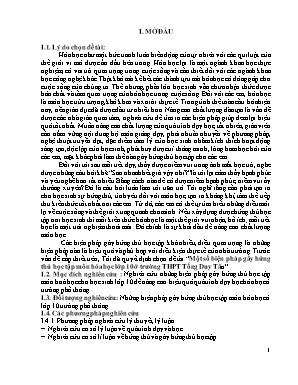 SKKN Một số biện pháp gây hứng thú học tập môn Hóa học lớp 10 ở trường THPT Tống Duy Tân