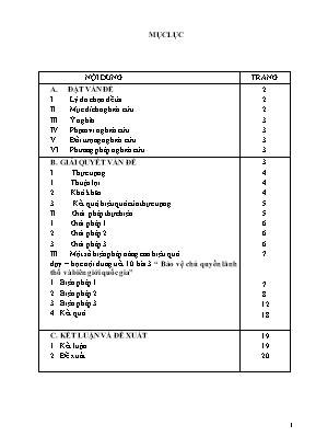 SKKN Một số biện pháp nâng cao hiệu quả dạy - Học nội dung: Bảo vệ biên giới quốc gia nước cộng hòa xã hội chủ nghĩa Việt Nam để nghiên cứu