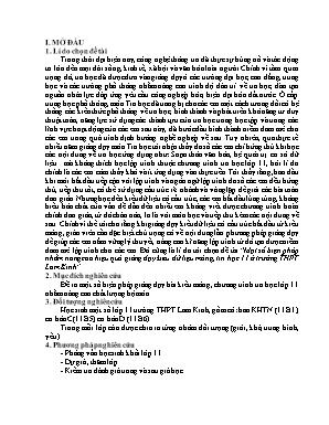 SKKN Một số biện pháp nhằm nâng cao hiệu quả giảng dạy kiểu dữ liệu mảng, Tin học 11 ở trường THPT Lam Kinh