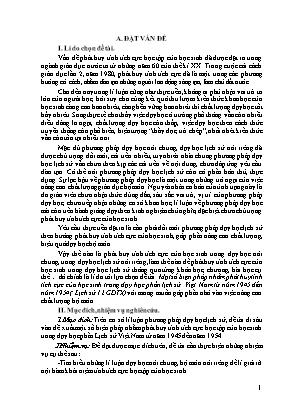 SKKN Một số biện pháp nhằm phát huy tính tích cực của học sinh trong dạy học phần lịch sử Việt Nam từ năm 1945 đến năm 1954 (Lịch sử 12 GDTX)