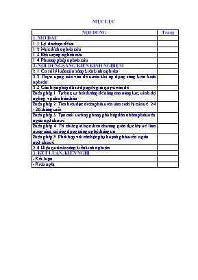SKKN Một số biện pháp phát triển ngôn ngữ cho trẻ 24 - 36 tháng thông qua hoạt động nhận biết ở lớp A1 trường Mầm non Nga Thái - Nga Sơn