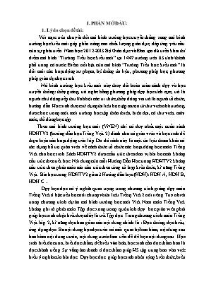 SKKN Một số biện pháp rèn kỹ năng đọc cho học sinh lớp 2A Trường Tiểu học Vạn Hòa – Học theo chương trình dự án mô hình trường học mới Việt Nam
