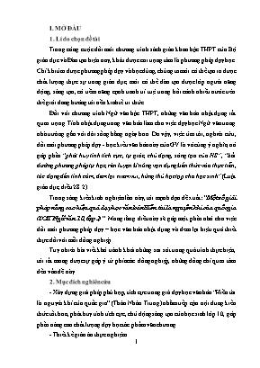 SKKN Một số giải pháp nâng cao hiệu quả dạy học văn bản Hiền tài là nguyên khí của quốc gia (SGK Ngữ văn 10, tập 2)