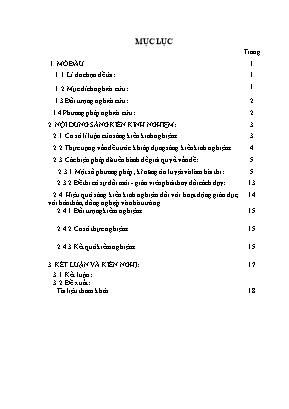 SKKN Một số kinh nghiệm bồi dưỡng năng lực thi của học sinh nhằm đạt kết quả cao trong kì thi thpt quốc gia qua dạy phần lịch sử Việt Nam lớp12