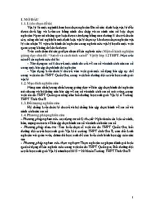 """SKKN Một số kinh nghiệm giảng dạy chủ đề: """"Sai số và cách tính sai số"""" Vật lý lớp 12 THPT"""