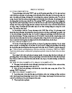 SKKN Một số kinh nghiệm hướng dẫn học sinh lớp 10 trường THCS & THPT Nghi Sơn khắc phục sai lầm khi giải phương trình chứa ẩn dưới dấu căn thức bậc hai