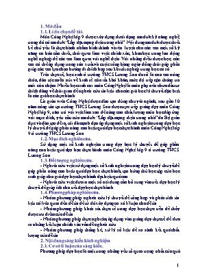 SKKN Một số kinh nghiệm trong dạy học lý thuyết để góp phần nâng cao hiệu quả dạy học thực hành môn Công Nghệ lớp 9 ở trường THCS Lương Sơn