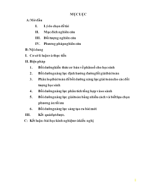 SKKN Một số phương pháp bồi dưỡng năng lực giải toán phân số cho học sinh lớp 6 Trường THCS & THPT Quan Hóa
