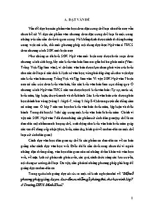 SKKN Một số phương pháp giảng dạy ca dao - Dân ca nhằm gây hứng thú cho học sinh lớp 7 ở Trường THCS Minh Khai