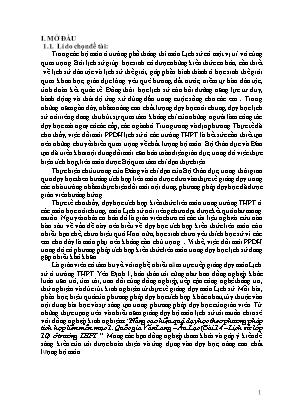 SKKN Nâng cao hiệu quả dạy học theo phương pháp tích hợp liên môn mục 1. Quốc gia Văn Lang – Âu Lạc (Bài 14 – Lịch sử lớp 10) ở trường THPT