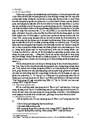 """SKKN Nâng cao kết quả học tập môn vật lý thông qua việc vận dụng thuyết """"đa trí tuệ"""" (howard gardner) vào dạy học bài """"các hiện tượng bề mặt của chất lỏng"""" (bài 37, Vật lý 10) đối với học sinh trường THPT Cầm Bá Thước"""