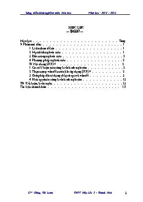 SKKN Phân tích và hướng dẫn học sinh khắc phục những sai lầm thường gặp khi giải bài toán hóa học về sắt và hợp chất sắt - Hóa vô cơ lớp 12 THPT