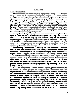 """SKKN Phương pháp dạy tác phẩm văn chương (phần trung đại) thông qua văn bản: """"Nước Đại Việt ta"""" (Trích Bình Ngô đại cáo) của Nguyễn Trãi – Ngữ văn 8, tập 2"""