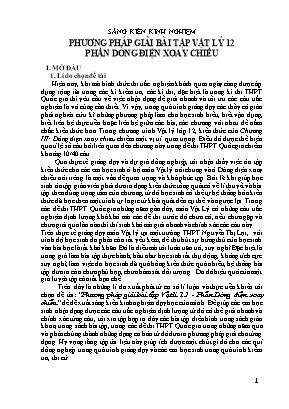 SKKN Phương pháp giải bài tập Vật lý 12 phần dòng điện xoay chiều