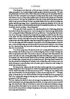 SKKN Phương pháp khai thác tư liệu Văn học - Thơ ca trong dạy học Lịch sử Việt Nam ở một số bài lớp 10 THPT