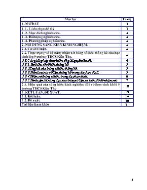 SKKN Phương pháp rèn luyện kĩ năng nhận xét bảng số liệu địa lí để rút ra kiến thức cho học sinh lớp 9